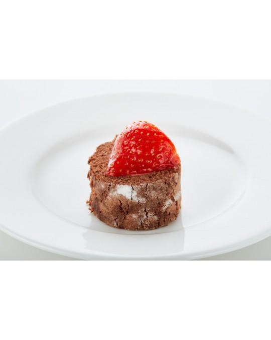 Strawberry and quark roulade