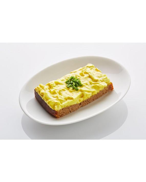 Schwarzbrot Curry-Ei mit Schnittlauch