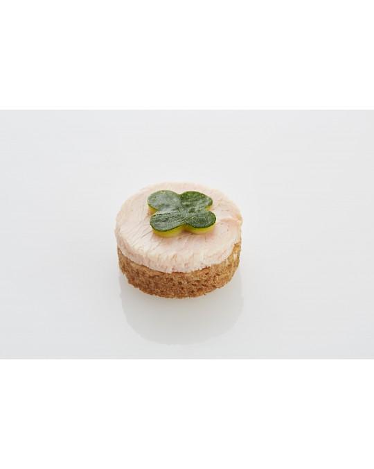 Canapé Truthahnbrust mit Zucchinistreifen