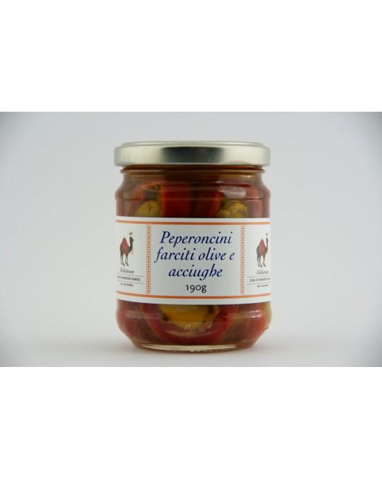 Peperoncini farciti olive e acciughe 190g