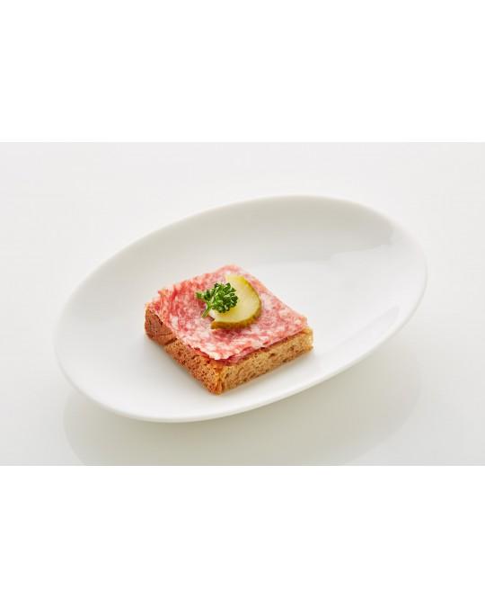 """Schwarzbrot mit Mailänder Salami """"piccolo"""""""